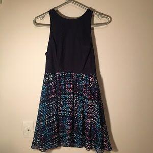 Sleeveless Navy Short Dress